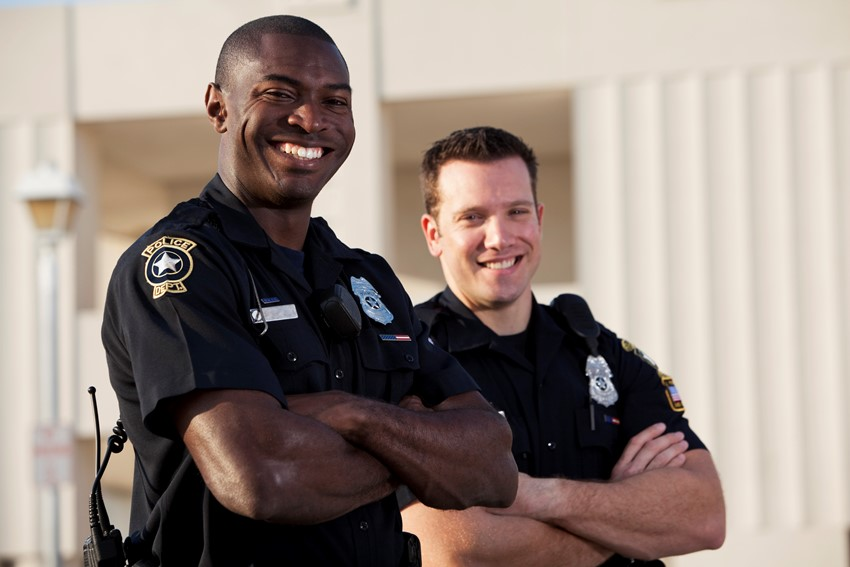 happy officers